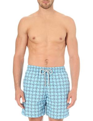 VILEBREQUIN Micro fish-print swim shorts