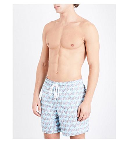 VILEBREQUIN Sardine Cube swim shorts (Wht+sky