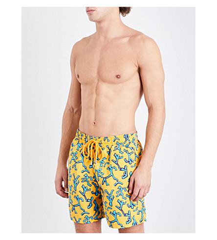 VILEBREQUIN Aboriginal man-print swim shorts (Gold