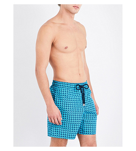 VILEBREQUIN Baby Trop' patterned swim shorts (Blues