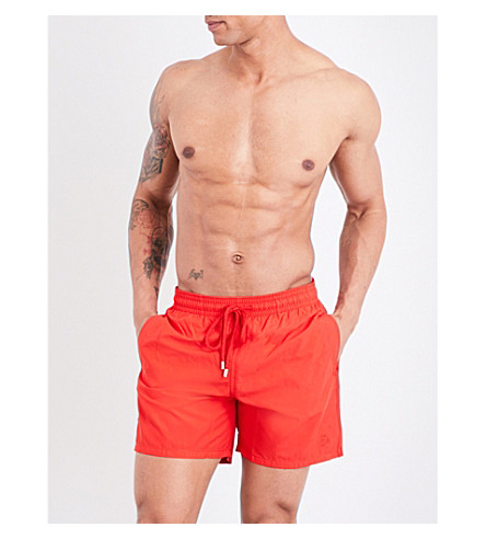 VILEBREQUIN Moorea crab water-reactive swim shorts (Red