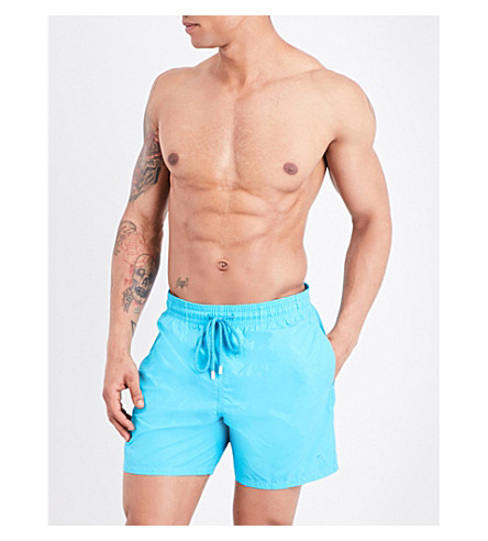 VILEBREQUIN Moorea dolphin water-reactive swim shorts (Brt+blue