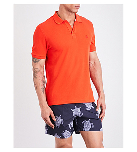 VILEBREQUIN Palatin cotton-piqué polo shirt (Red