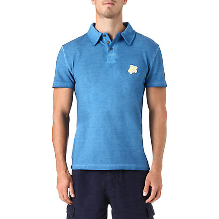 VILEBREQUIN Turtle pique polo shirt (Blue