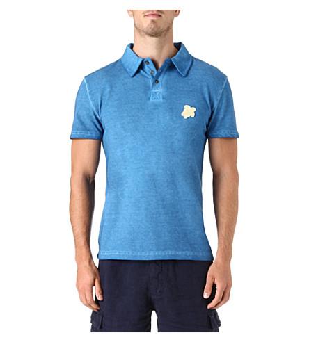 VILEBREQUIN Turtle pique polo shirt (Blue