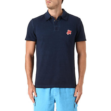 VILEBREQUIN Turtle pique polo shirt (Navy