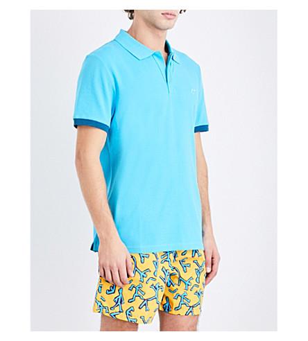 VILEBREQUIN Palatin contrast-trim cotton-piqué polo shirt (Aqua