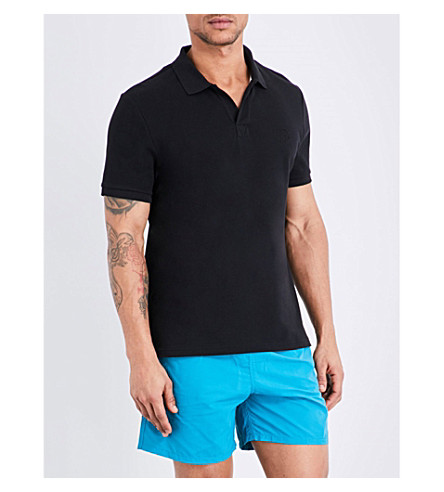 VILEBREQUIN Palatin cotton-piqué polo shirt (Black