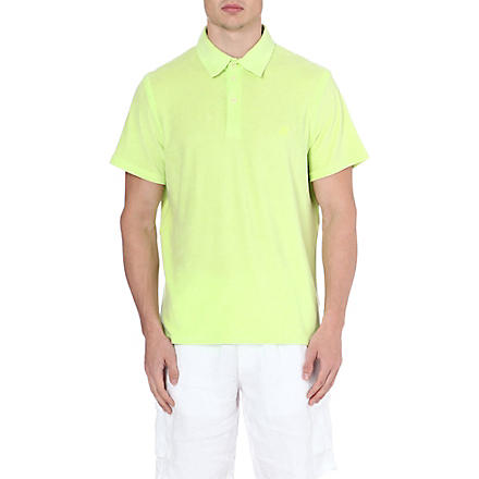VILEBREQUIN Towelling polo shirt (Lime