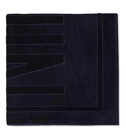 VILEBREQUIN Sand cotton beach towel (Navy