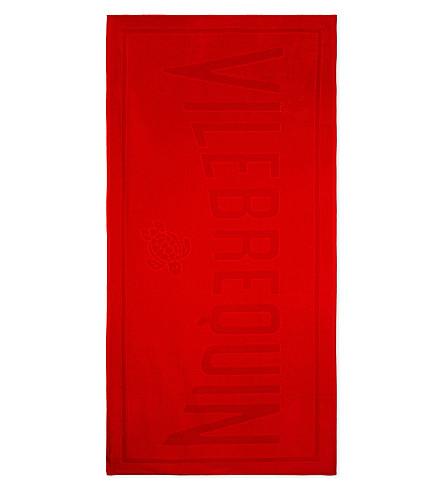 VILEBREQUIN Logo cotton beach towel (Red