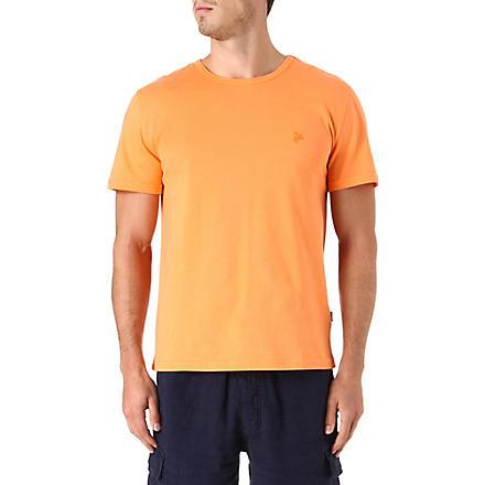 VILEBREQUIN Tribord crew-neck t-shirt (Tangerine