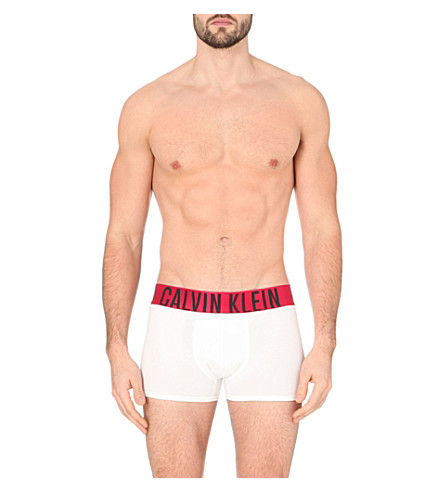 CALVIN KLEIN Power Red contrast waistband trunks (Black