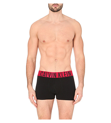 CALVIN KLEIN Power Red contrast waistband trunks (White
