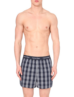 CALVIN KLEIN Pack of two cotton boxer shorts