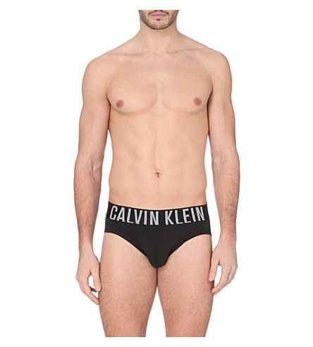 CALVIN KLEIN Branded briefs (Black