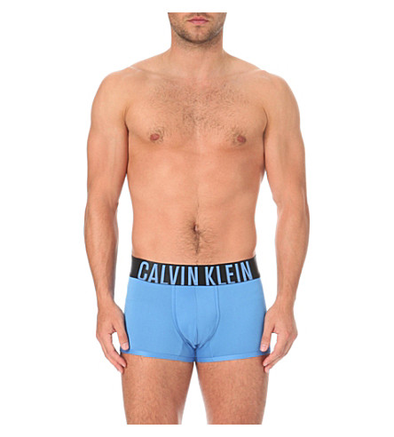 CALVIN KLEIN Intense Power slim-fit microfibre trunks (Blue