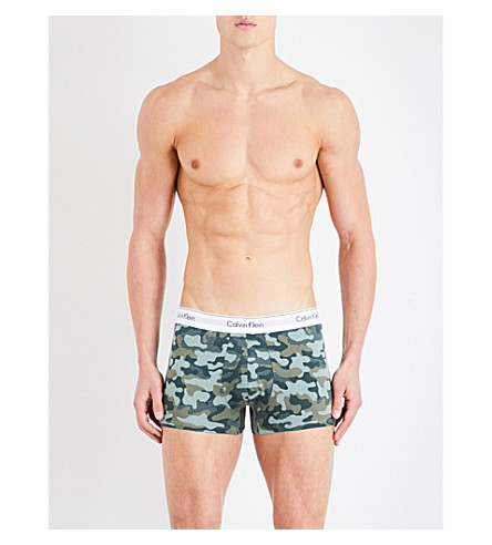CALVIN KLEIN Modern cotton slim-fit stretch-cotton trunks (Khaki