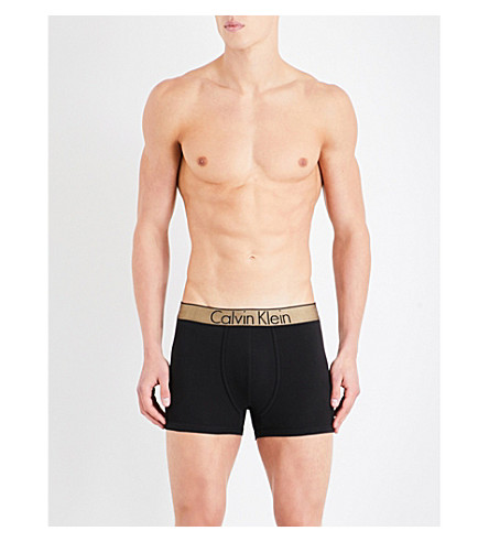 CALVIN KLEIN Customized stretch slim-fit stretch-cotton trunks (Blk