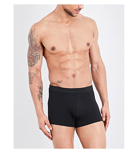 CALVIN KLEIN Infinite regular-fit stretch-cotton trunks (Black