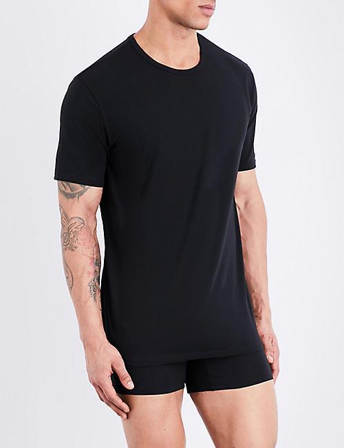 Online Calvin Klein Mens Stretch Long Sleeve Shirt Mens Socks Shop Mens Socks COLOUR-white