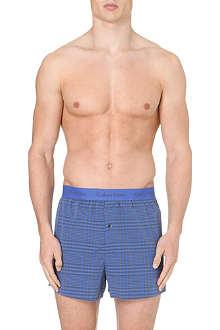 CALVIN KLEIN Checked woven boxers