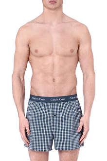 CALVIN KLEIN Plaid woven boxers