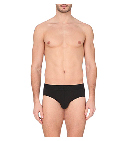 CALVIN KLEIN Premium stretch-cotton briefs (Black