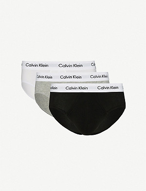CALVIN KLEIN Stretch-cotton briefs