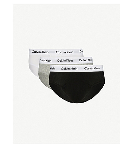 CALVIN KLEIN Pack of three Cotton Stretch regular-fit stretch-cotton briefs (Multi