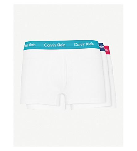 Paquete de elástico Blanco baúles KLEIN algodón clásico de CALVIN de tres rojo corte azul RZw5xXyayq