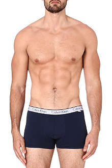 CALVIN KLEIN Logo stretch-cotton trunks