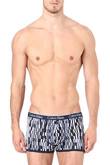 CALVIN KLEIN Cotton-blend patterned trunks