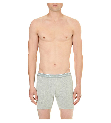 CALVIN KLEIN CK One stretch-cotton trunks (Grey