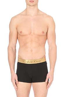 CALVIN KLEIN Microfibre gold waist trunks