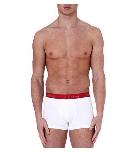 CALVIN KLEIN Pro–stretch basic trunks (White