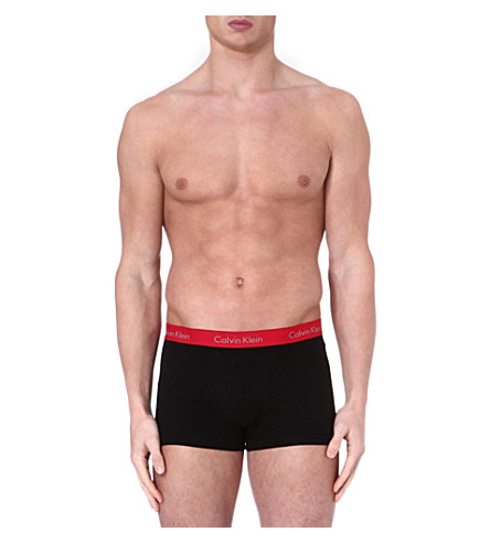 CALVIN KLEIN Pro–stretch basic trunks (Black