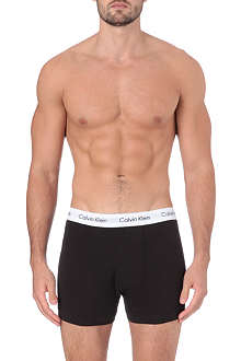 CALVIN KLEIN Three pack stretch–cotton trunks