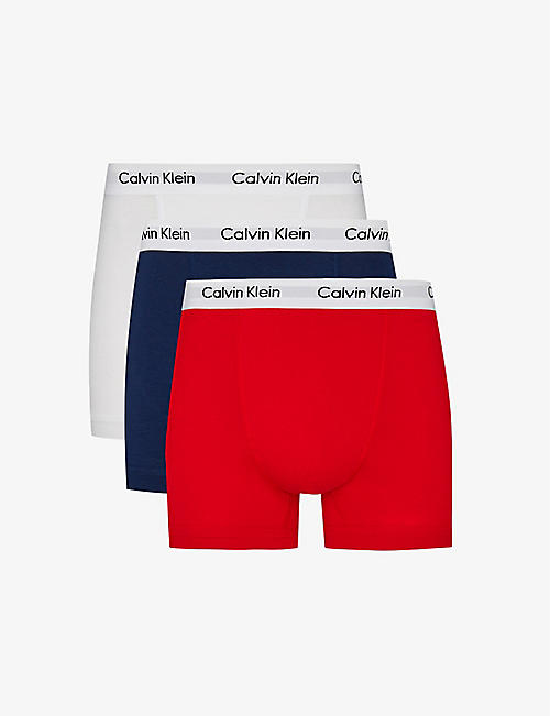 CALVIN KLEIN Pack of three Cotton Stretch classic-fit stretch-cotton trunks