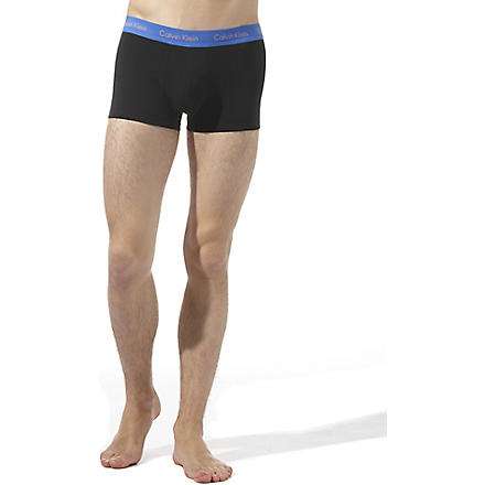 CALVIN KLEIN Three pack low–rise trunks (Black