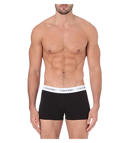 CALVIN KLEIN Cotton Stretch pack of three low-rise trunks (Multi