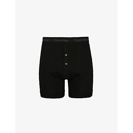 CALVIN KLEIN Button fly boxer briefs (Black