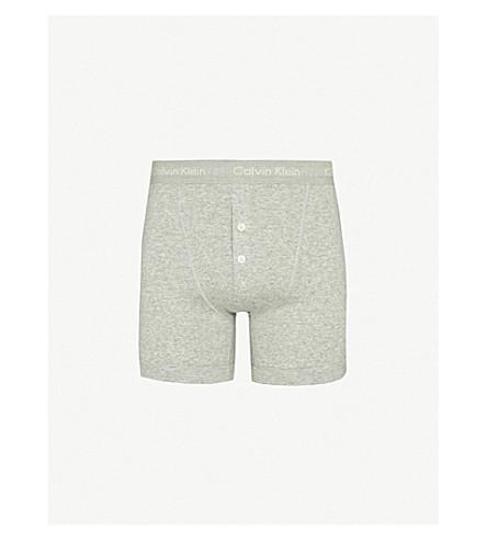 CALVIN KLEIN Button-fly boxer briefs (Grey: grey