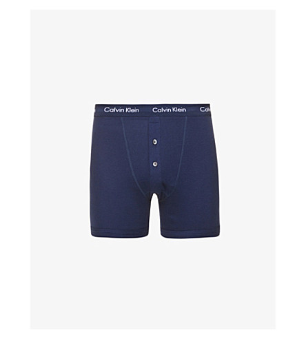 CALVIN KLEIN Button-fly boxer briefs (Navy
