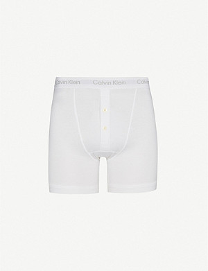 CALVIN KLEIN Button-fly boxer briefs