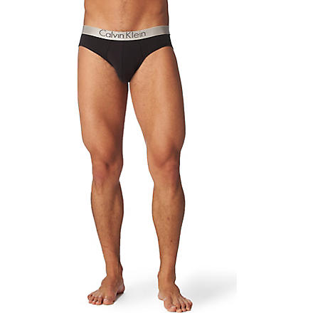 CALVIN KLEIN Chrome briefs (Black