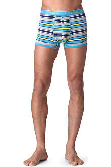 CALVIN KLEIN Striped stretch-cotton trunks