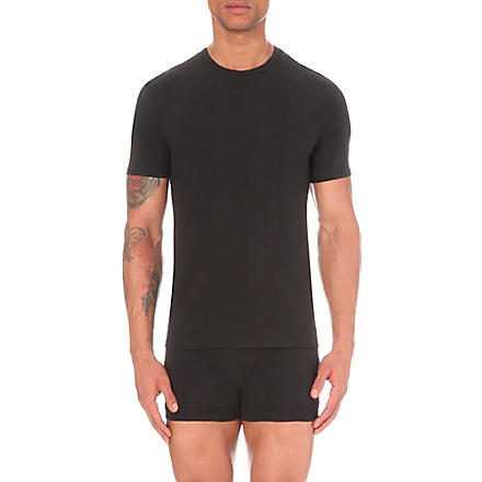 CALVIN KLEIN Two pack crew–neck t–shirts (Black