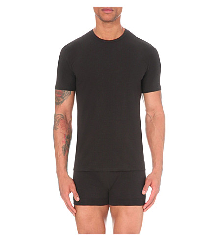 CALVIN KLEIN Two pack crew-neck t-shirts (Black