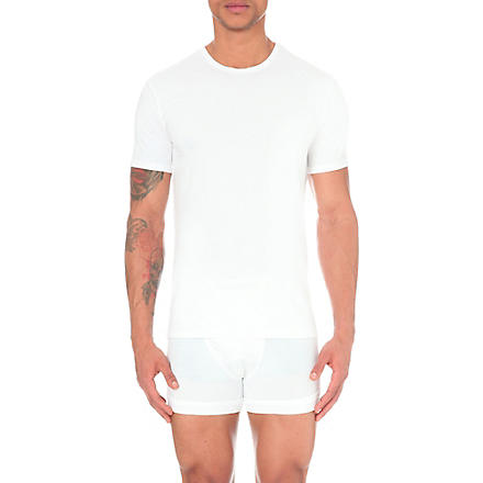 CALVIN KLEIN Two pack crew–neck t–shirts (White